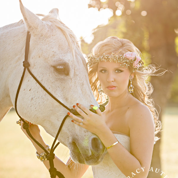 BreAnne - Bridal Portraits at Bass Hall and Private Ranch with Horses