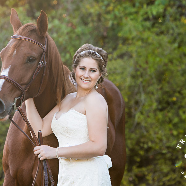 Sarah - Bridal Portraits on Private Property with Horses & Dogs