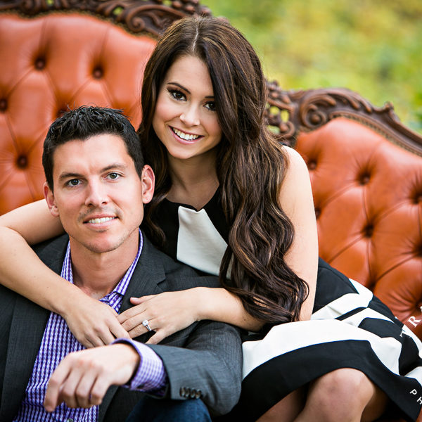 Abby & Jeff - Engagement Portraits at Chandor Garden and Fall Trees