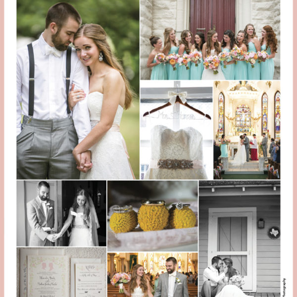 Published - Alex & Andrew's Wedding in Brides of North Texas Magazine