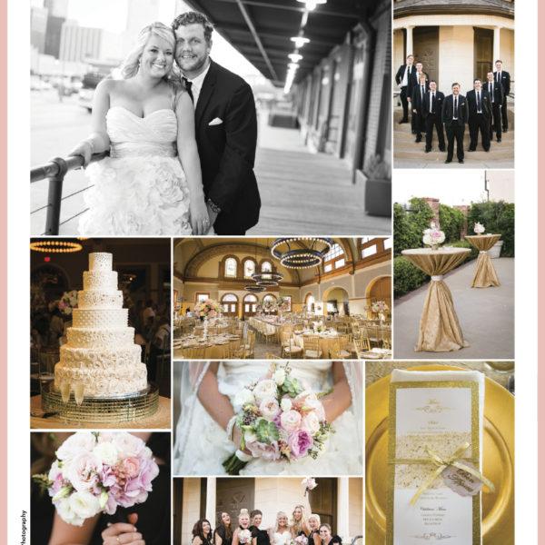 Published - Brooke & Cody at Ashton Depot in Brides of North Texas Magazine