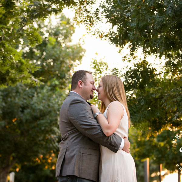 Heather and Tim - Engagement Portraits at Fort Worth Botanic Gardens & Downtown