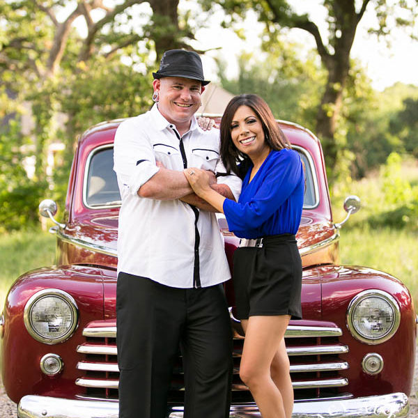 Tiffany & Justin - Engagements with a 47' Ford Coupe