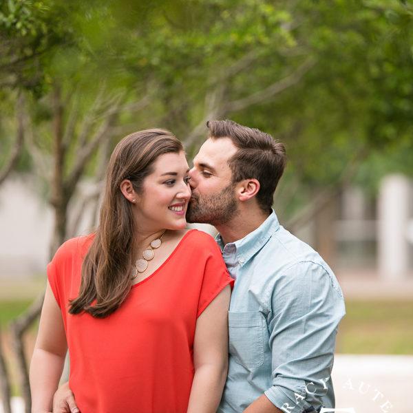 Kayla & Chris - Engagement Photos at Kimball Art Museum & Sundance Square