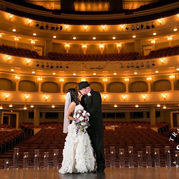 Tiffany & Justin - Wedding Ceremony & Reception on the Bass Hall Stage