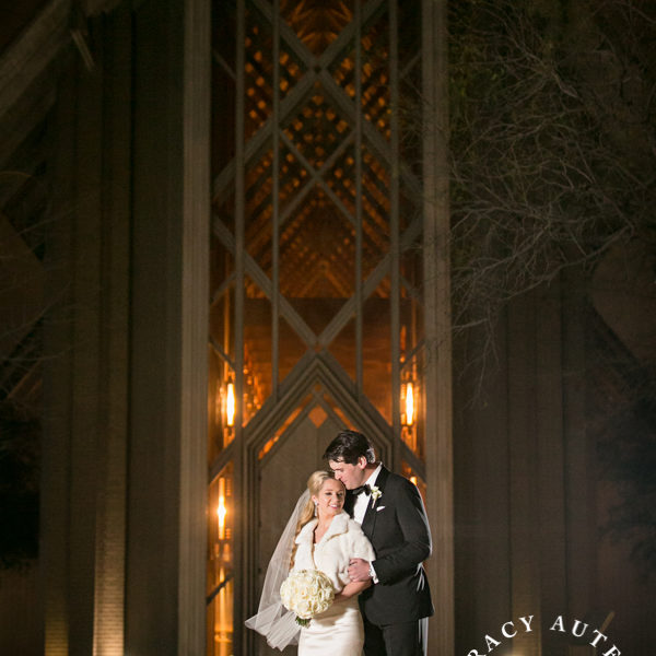 Katie & Charlie - Winter Night Wedding Ceremony at Marty Leonard Chapel