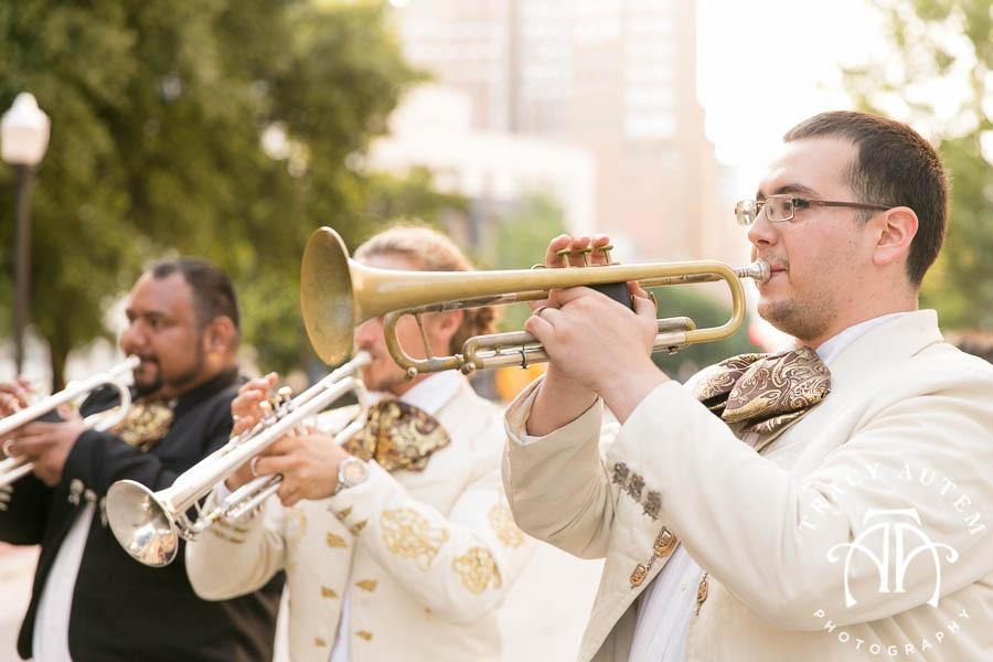 Jason Katie Wedding Details Dress Hydrangeas White Flowers Ideas Invitations Omni Hotel St. Patricks Cathedral Catholic Ceremony Fort Worth Downtown Tracy Autem Photography-0028