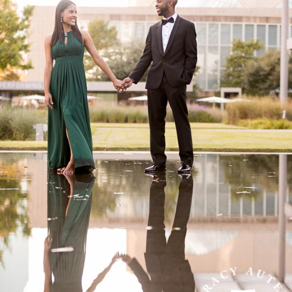 Cherrell & Alan - Engagement Session at Dallas Arboretum & Arts District