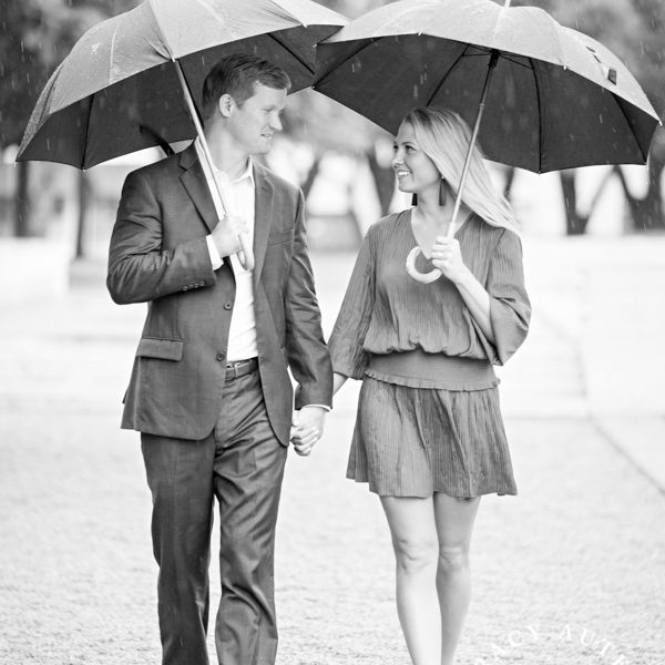 Chelsea & Jacob - Rainy Day Engagement Session in Fort Worth