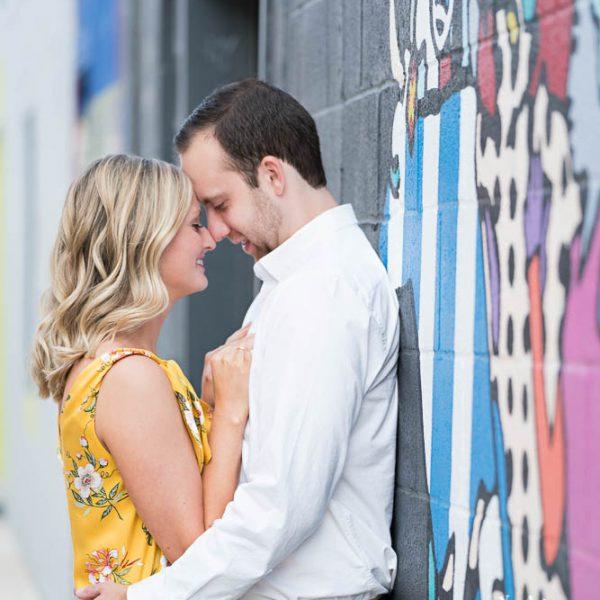 Devon & Nicholas - Engagement Portrait in Fort Worth Foundry District & Water Gardens